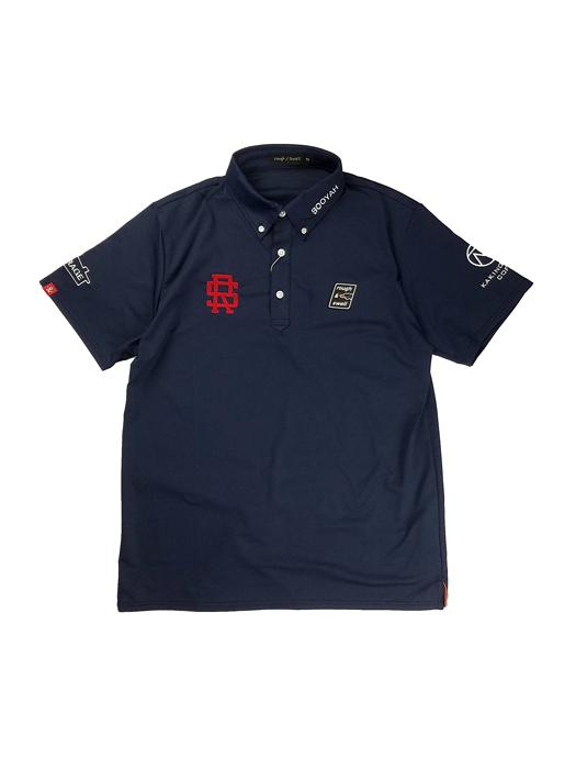 rough&swell ラフアンドスウェル 2021 TOUR POLO ポロシャツ ネイビー RSM-21001 / ゴルフウェア メンズ ラフ&スウェル
