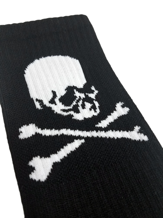 mastermind JAPAN マスターマインドジャパン ソックス 斜めスカル ブラック MJ18E01-SO0002 / 靴下