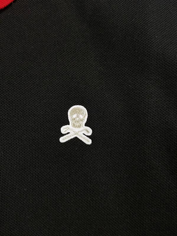 MARK&LONA マークアンドロナ Ace Asset Polo   MEN ポロシャツ ブラック×レッド MLM-1A-AP06
