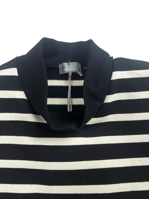 kolor BEACON カラービーコン ハードコットンボーダー Tシャツ ブラック×アイボリー 21SBM-T09238
