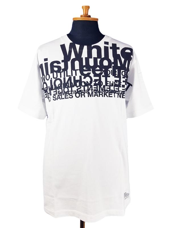 White Mountaineering ホワイトマウンテニアリング LOGO LAYERED PRINTED T-SHIRT レイヤード プリントTシャツ ホワイト WM2071523