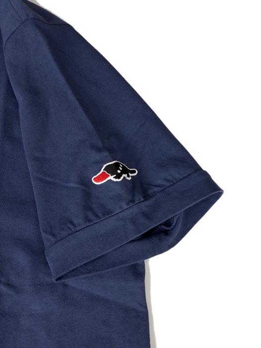 rough&swell ラフアンドスウェル THREE MEN SK スキッパー ポロシャツ ネイビー RSM-20030 / ゴルフウェア
