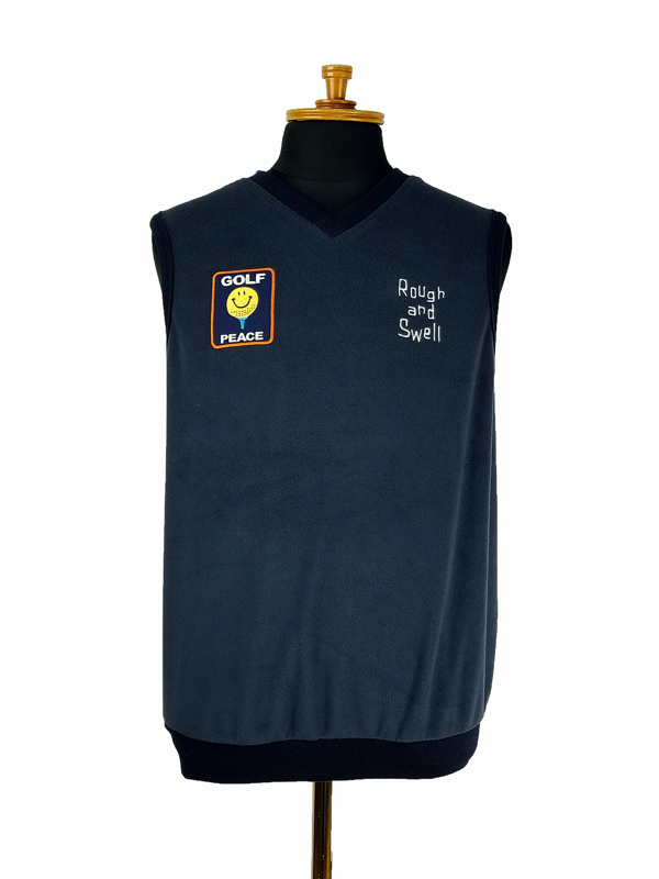 rough&swell ラフアンドスウェル GOLF PEACE VEST ベスト ネイビー RSM-21215 / ゴルフウェア メンズ ラフ&スウェル