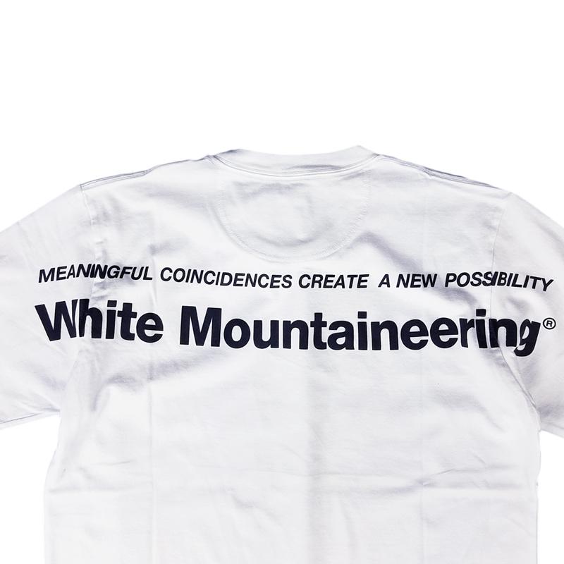 White Mountaineering ホワイトマウンテニアリング LOGO PRINTED T-SHIRT プリントTシャツ ホワイト WM2071524