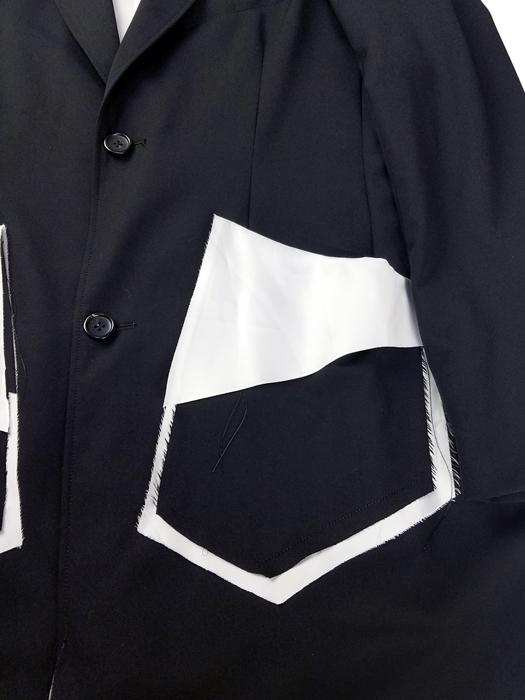 sulvam サルバム Gabardine classic longjacket クラシックロングジャケット ブラック SM-J51-100
