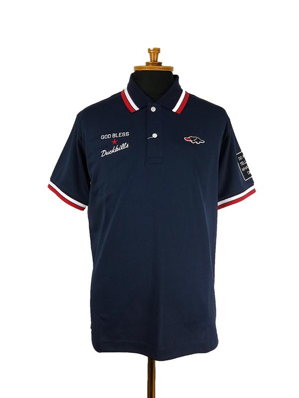 rough&swell ラフアンドスウェル FRED POLO ポロシャツ ネイビー RSM-21015 / ゴルフウェア メンズ ラフ&スウェル