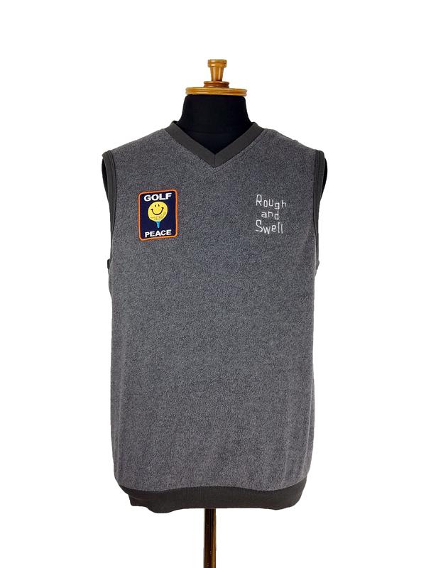 rough&swell ラフアンドスウェル GOLF PEACE VEST ベスト グレー RSM-21215 / ゴルフウェア メンズ ラフ&スウェル