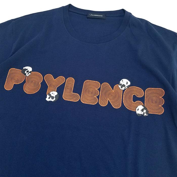 John UNDERCOVER ジョンアンダーカバー  タリキリBIGTEE PSYLENCE ネイビー JUU4891-2 / ビッグTシャツ