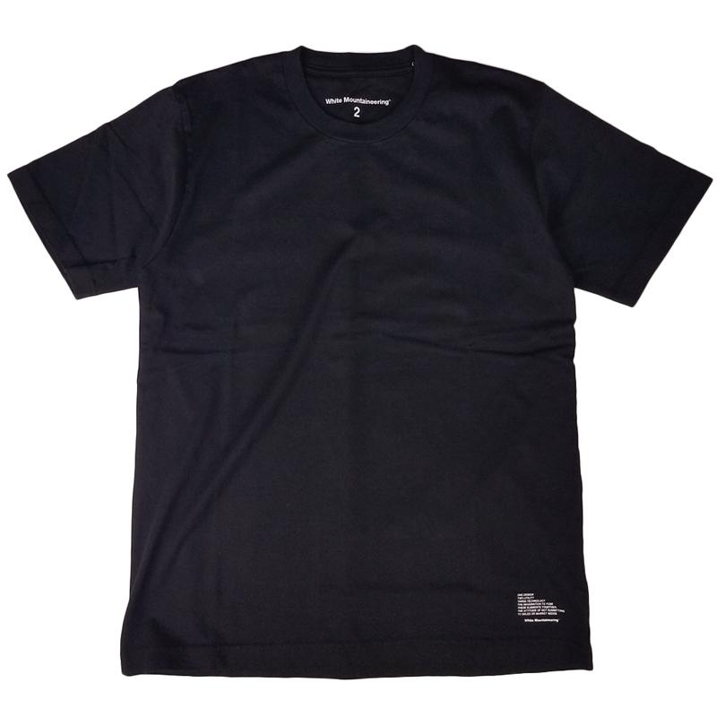 White Mountaineering ホワイトマウンテニアリング LOGO PRINTED T-SHIRT プリントTシャツ ブラック WM2071524