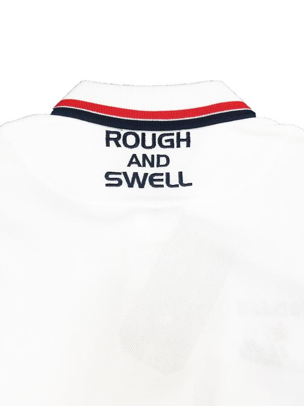 rough&swell ラフアンドスウェル FRED POLO ポロシャツ ホワイト RSM-21015 / ゴルフウェア メンズ ラフ&スウェル