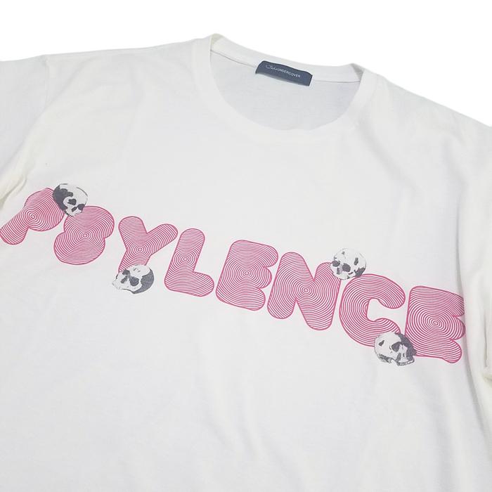 John UNDERCOVER ジョンアンダーカバー  タリキリBIGTEE PSYLENCE ホワイト JUU4891-2 / ビッグTシャツ