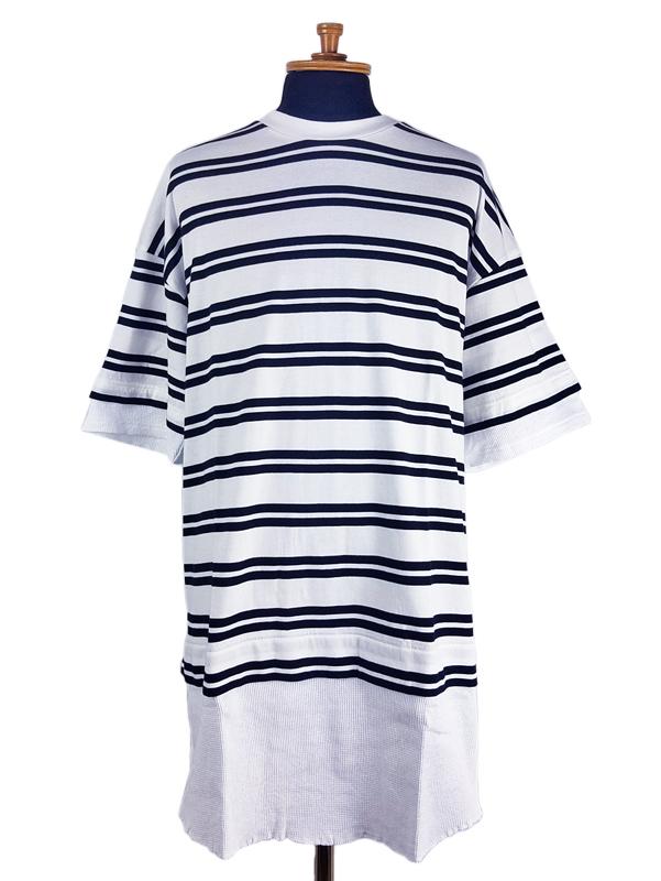 White Mountaineering ホワイトマウンテニアリング STRIPE LAYERED T-SHIRT ストライプ レイヤード Tシャツ ホワイト WM2071527