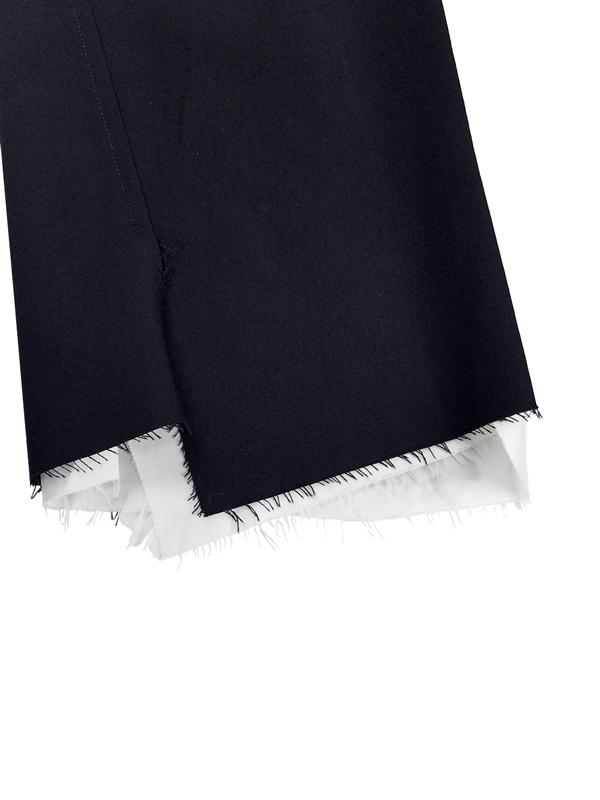 sulvam サルバム Gabardine classic slim pants クラシックスリムパンツ ブラック SM-P51-100