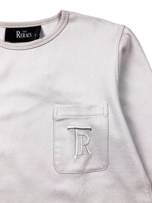 THE RERACS ザ・リラクス ウールカットソー スウェット ホワイト 14FW-RECS-036
