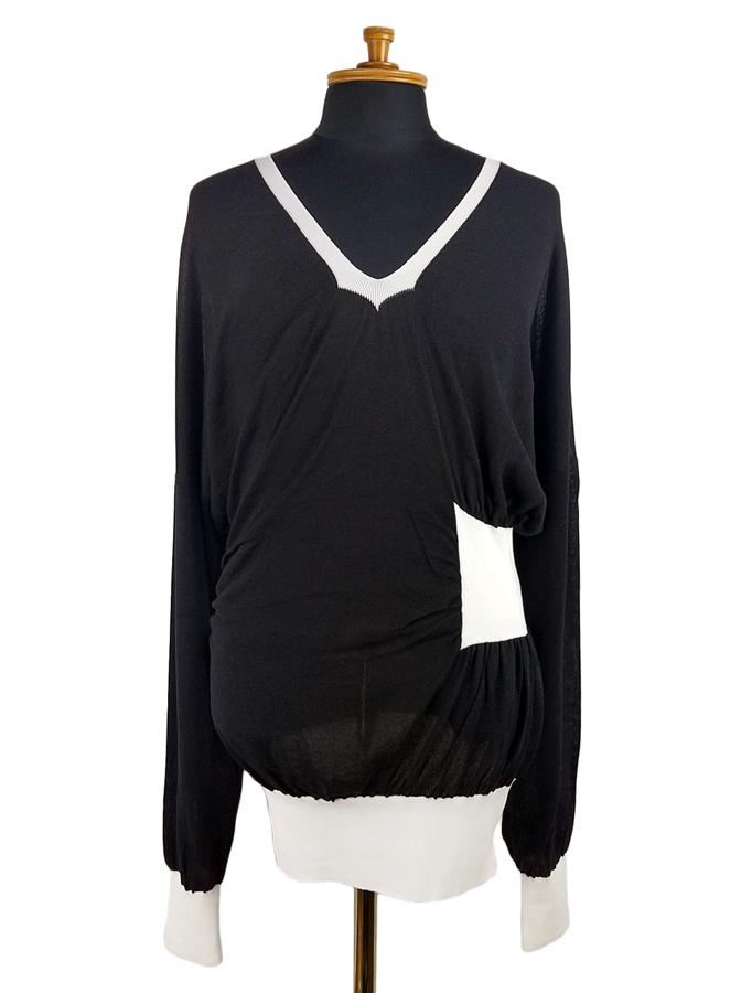 sulvam サルバム w.rib knit ダブルリブニット ブラック SL-K05-830