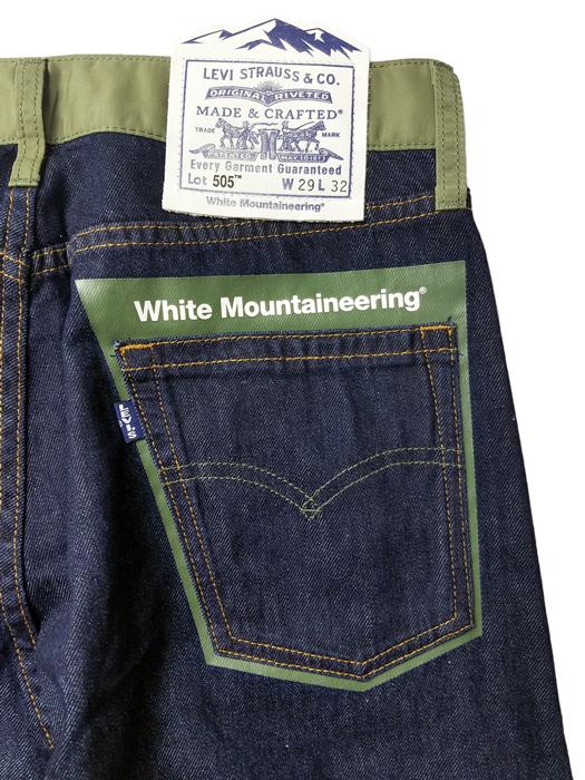 White Mountaineering ホワイトマウンテニアリング WM x LMC 9oz DENIM PANTS '505' LEVI'S リーバイス コラボ デニムパンツ インディゴ WM2073424