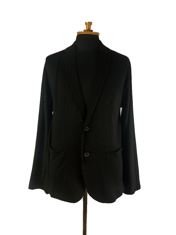 kolor BEACON カラービーコン ウール天竺ジャケット ブラック 21SBN-J01239