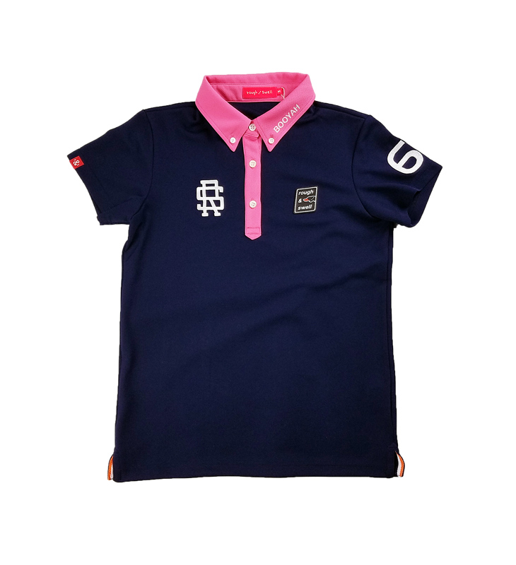 【WOMEN】 rough&swell for WOMEN ラフアンドスウェル ウィメン MICHELLE POLO W. ポロシャツ ネイビー RSL-21004 / ゴルフウェア レディース ラフ&スウェル
