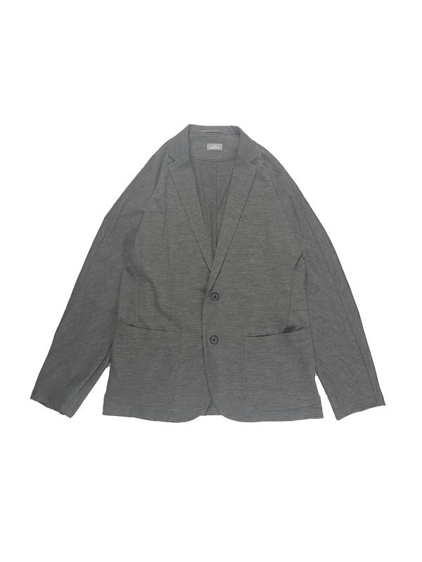 kolor BEACON カラービーコン ウール天竺ジャケット グレー 21SBN-J01239