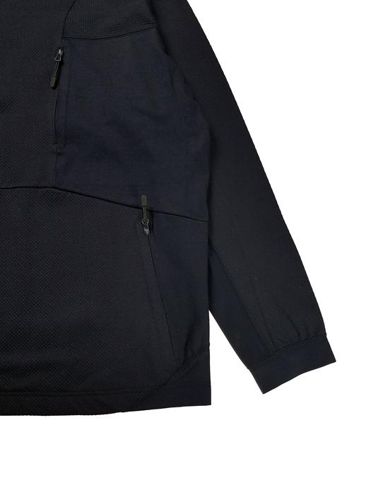 White Mountaineering ホワイトマウンテニアリング CONTRASTED SWEATSHIRT スウェットシャツ ネイビー WM2171506