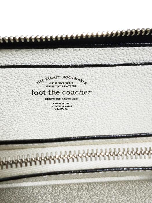 foot the coacher フットザコーチャー ロングジップウォレット ブラックxホワイト LONG ZIP WALLET FTA1712007 / 財布 サイフ ラウンドファスナー