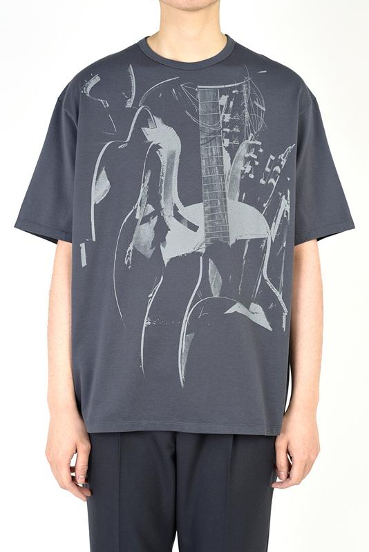 LAD MUSICIAN ラッドミュージシャン BIG T-SHIRT ビッグTシャツ ブルーグレー 2121-803