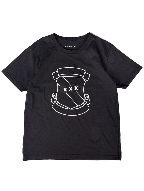 NUMBER (N)INE ナンバーナイン Tシャツ チャコール コラボレーション GOD SELECTION XXX ゴッドセレクショントリプルエックス BJ2NXT003 / numbernine