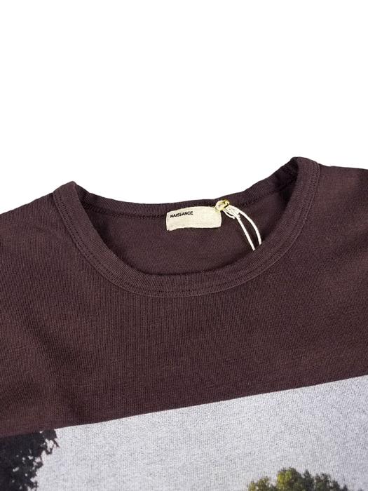 NAISSANCE ネサーンス PHOTO TEE (FRONT) Tシャツ ブラウン 20S-NSA-CS-11