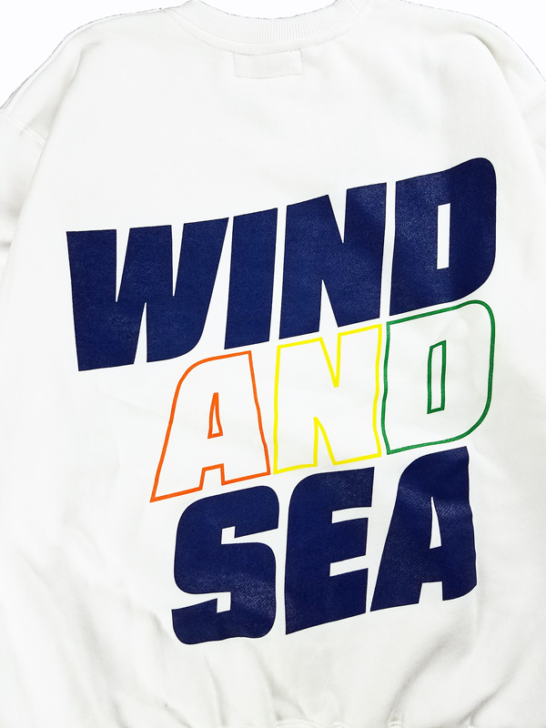 WIND AND SEA ウィンダンシー SEA (juicy-fresh) CREW NECK スウェット ホワイト WDS-21S-TPS-05