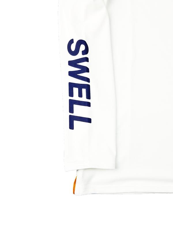 rough&swell ラフアンドスウェル BIG LOGO MOCK L.S. モックネック ホワイト RSM-21227 / ゴルフウェア メンズ ラフ&スウェル