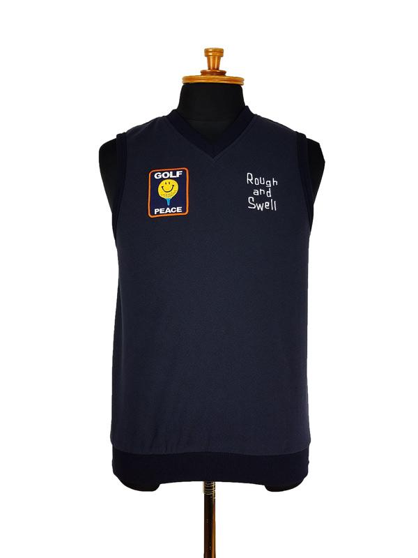 【WOMEN】 rough&swell for WOMEN ラフアンドスウェル ウィメン GOLF PEACE VEST W. ベスト ネイビー RSL-21213 / ゴルフウェア レディース ラフ&スウェル