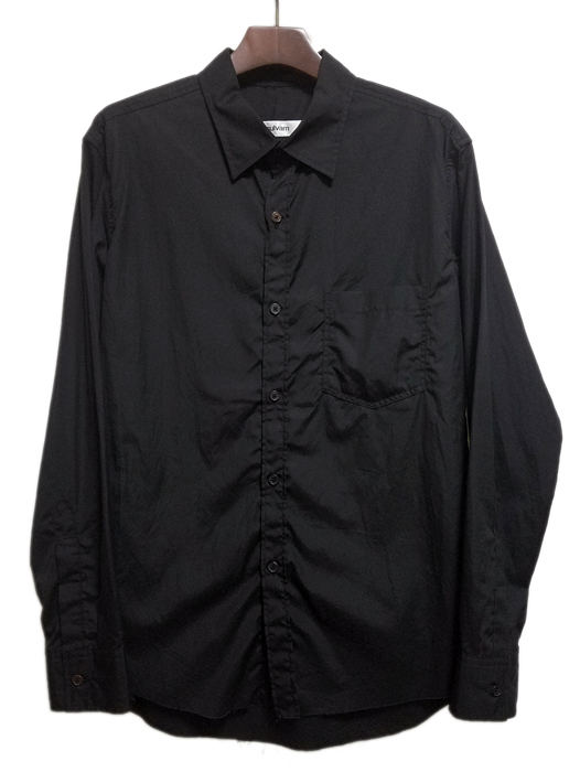 sulvam サルバム スタンドカラーシャツ ブラック stand collar SH SI-B01-001