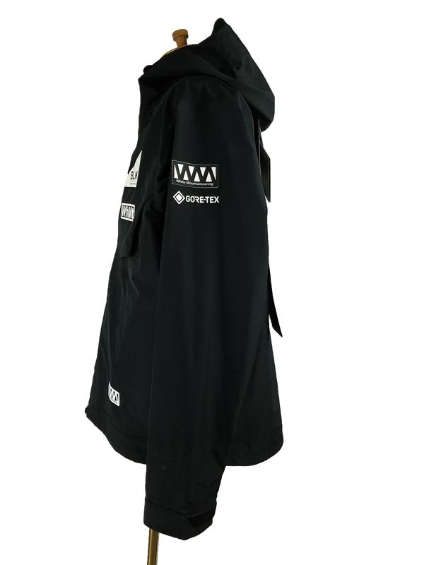 White Mountaineering ホワイトマウンテニアリング GORE-TEX LOGO PRINTED MOUNTAIN PARKA  BLACK BK2171210