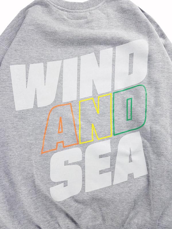 WIND AND SEA ウィンダンシー SEA (juicy-fresh) CREW NECK スウェット グレー WDS-21S-TPS-05