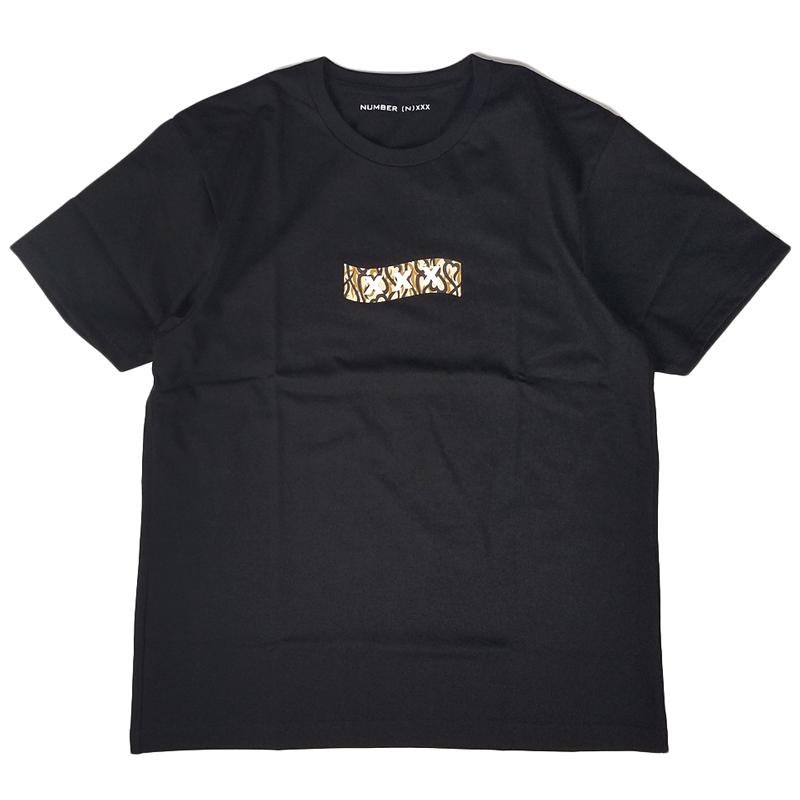 NUMBER (N)INE ナンバーナイン Tシャツ ブラック×ベージュ コラボレーション GOD SELECTION XXX ゴッドセレクショントリプルエックス BJ3NXT001 / numbernine