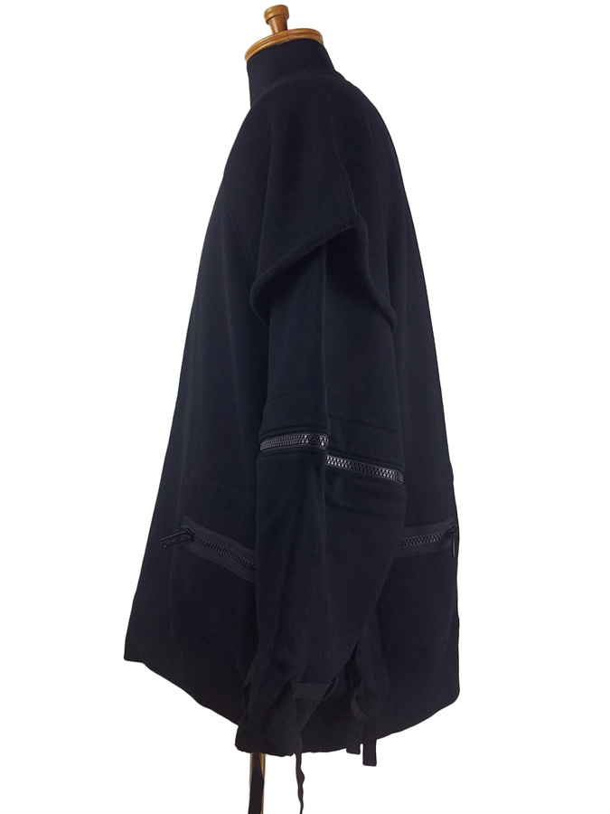 UNDERCOVER アンダーカバー 多ZIPレイヤード BIGSWEAT ビッグスウェット ブラック UCZ4809
