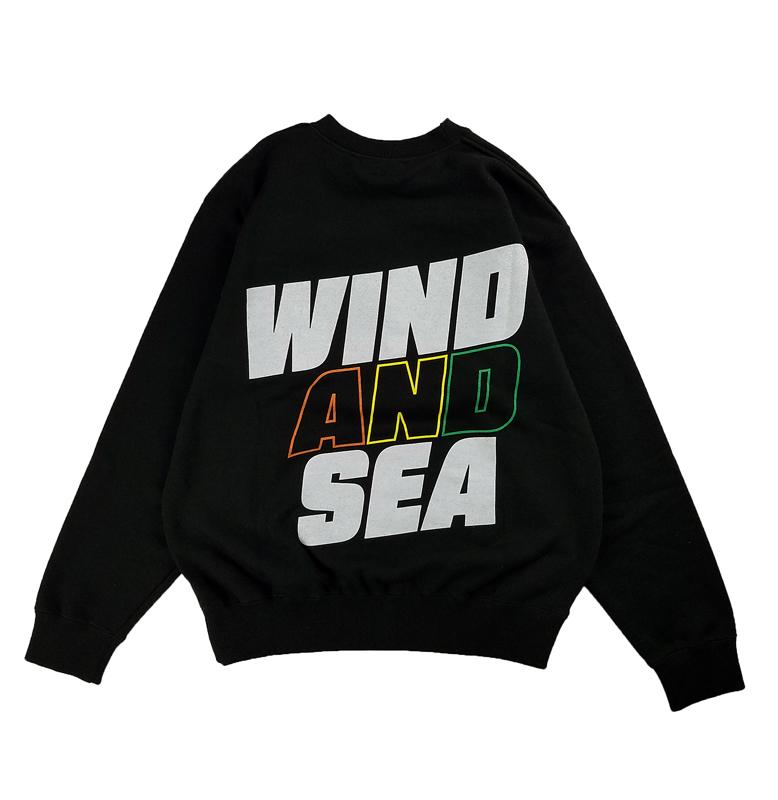 WIND AND SEA ウィンダンシー SEA (juicy-fresh) CREW NECK スウェット ブラック WDS-21S-TPS-05