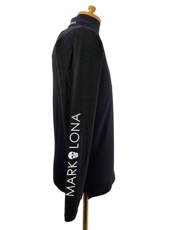 MARK&LONA マークアンドロナ 長袖ポロシャツ ブラック ML-17W-P31