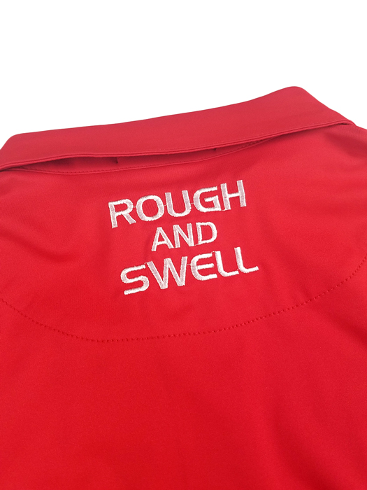 rough&swell ラフアンドスウェル シャツ Pe.ストレッチジャージー レッド THOMPSON TOUR SHIRT RSM-19201 / ラフ&スウェル ゴルフ メンズ