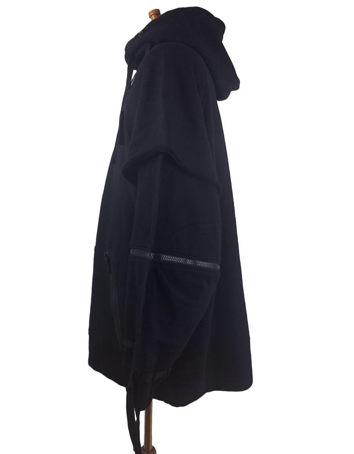 UNDERCOVER アンダーカバー 多ZIPレイヤード BIGHOODIE ビッグパーカー ブラック UCZ4810