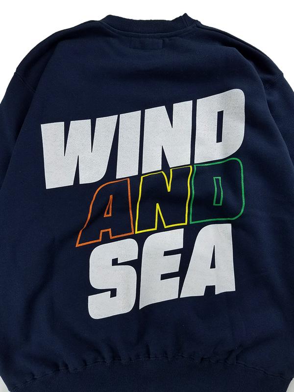 WIND AND SEA ウィンダンシー SEA (juicy-fresh) CREW NECK スウェット ネイビー WDS-21S-TPS-05