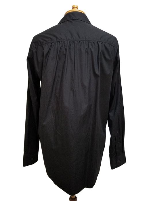 sulvam サルバム オープンカラーシャツ ブラック open collar SH SI-B02-001