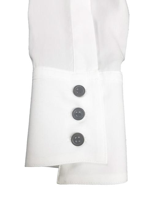 sulvam サルバム Tencel open collar shirt オープンカラーシャツ ホワイト×ブラック SN-B06-010