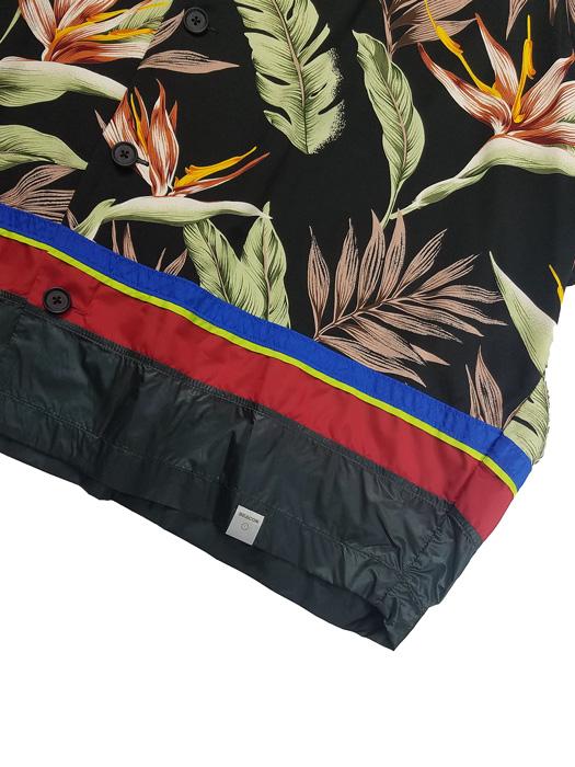 kolor BEACON カラービーコン レーヨンアロハシャツ ブラック 21SBM-B03131