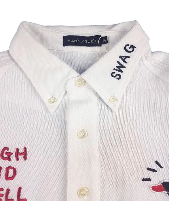 rough&swell ラフアンドスウェル シャツ C/Tドライカノコ ホワイト GRASSY L.S. RSM-19216 / ラフ&スウェル ゴルフ メンズ