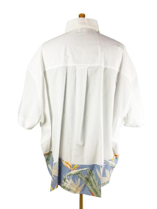 kolor BEACON カラービーコン 40S ブロードシャツ ホワイト 21SBM-B06143