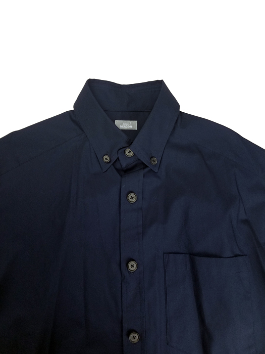 kolor BEACON カラービーコン 40S ブロードシャツ ネイビー 21SBM-B06143
