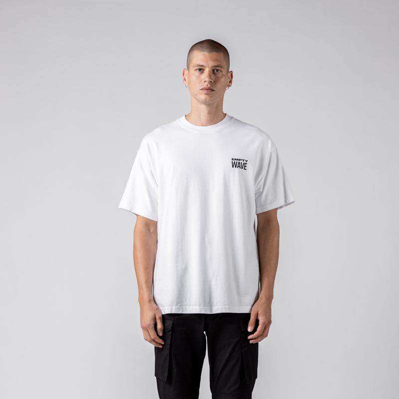 STAMPD スタンプド Empty Wave Relaxed Tee Tシャツ ホワイト SLA-M2707TE
