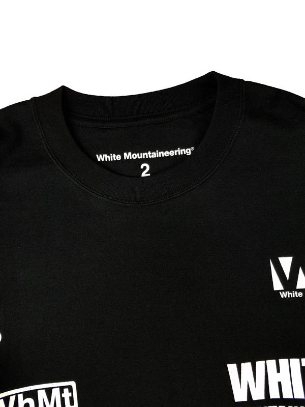 White Mountaineering ホワイトマウンテニアリング WM LOGO RANDAM PRINTED LONG SLEEVE T-SHIRT ロゴプリントロングTシャツ ブラック WM2173526
