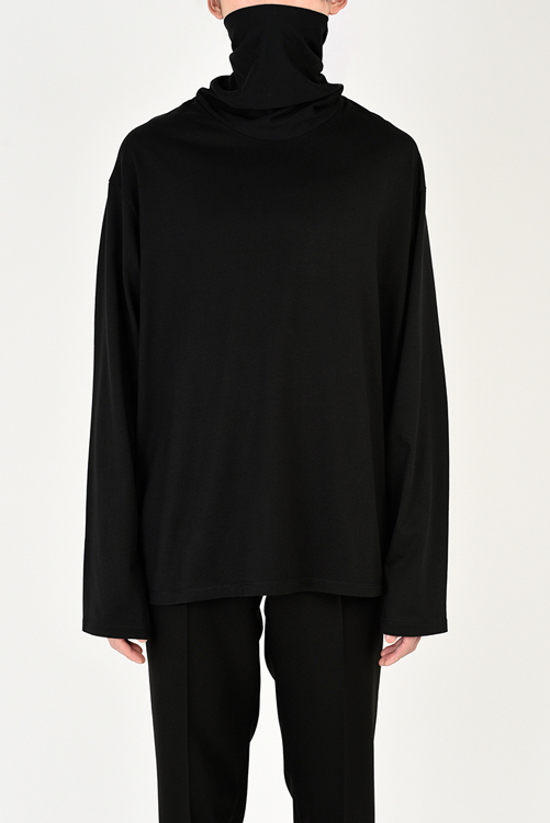 LAD MUSICIAN ラッドミュージシャン MASK NECK T-SHIRT マスクネックビッグTシャツ ブラック 2221-723